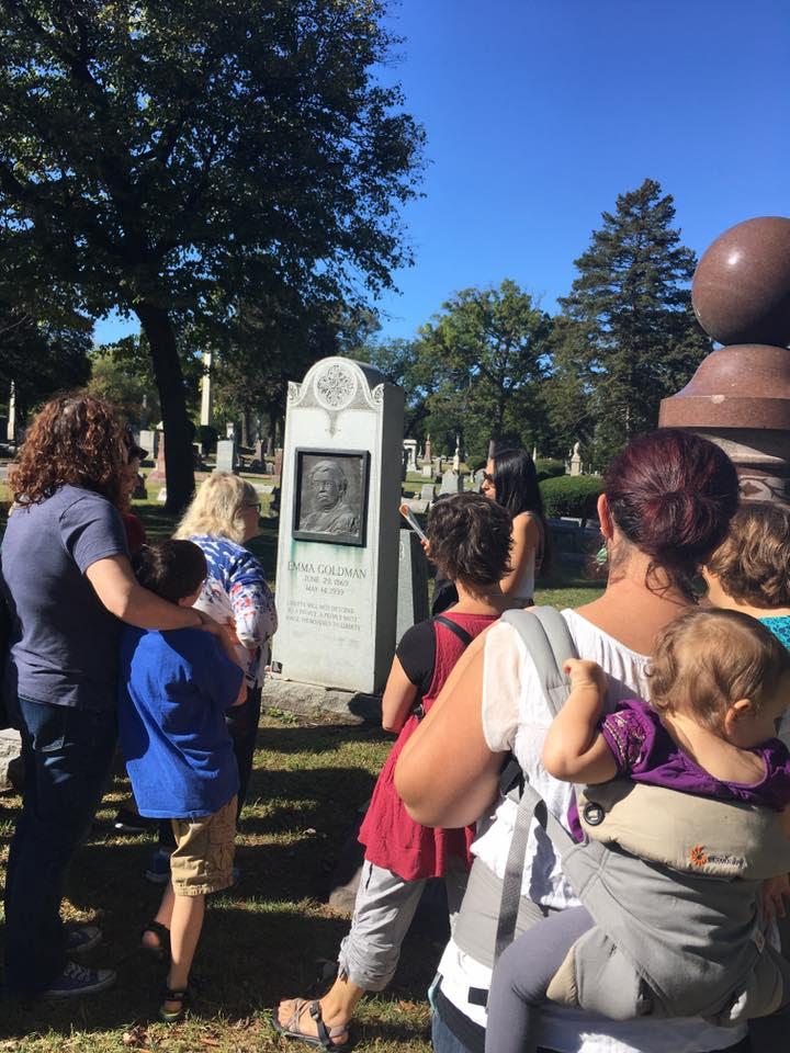 Visiting Emma Goldman's Grave