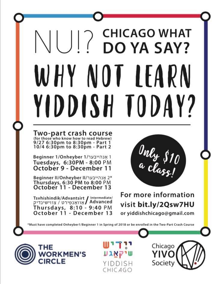 Yiddish classes flyer